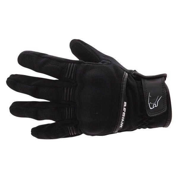 Bering Fletcher Black Motorcycle Gloves Back