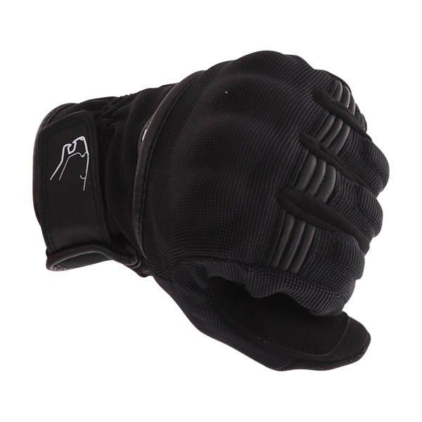 Bering Fletcher Black Motorcycle Gloves Knuckle