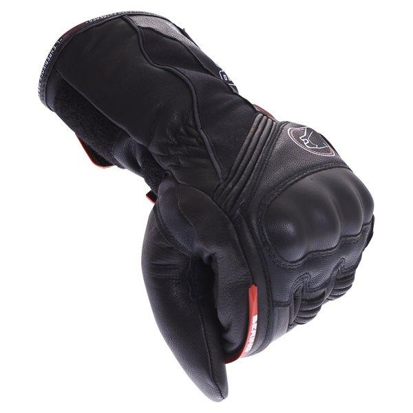 Bering Crezus Black Motorcycle Gloves Knuckle