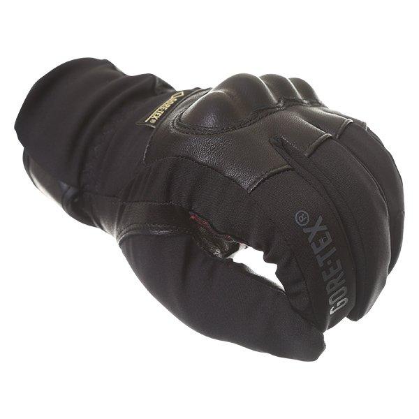 Bering Yucca Black Goretex Waterproof Motorcycle Gloves Knuckle