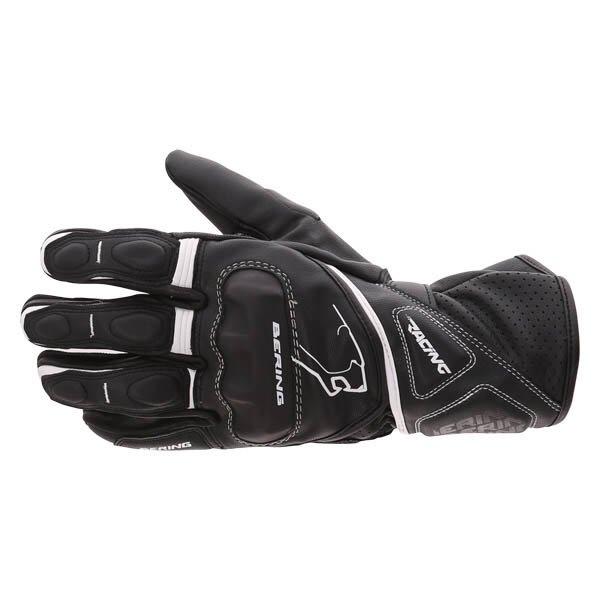 Bering Run-R Black White Motorcycle Gloves Back