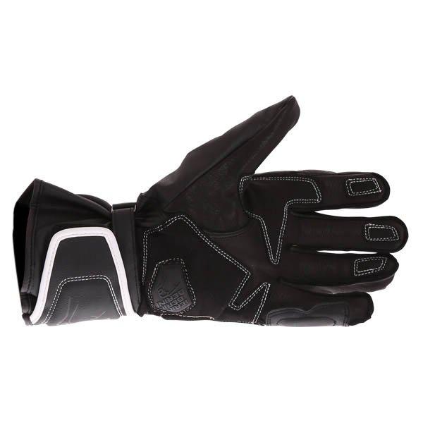 Bering Run-R Black White Motorcycle Gloves Palm