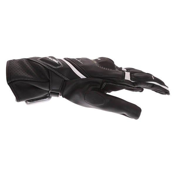 Bering Run-R Black White Motorcycle Gloves Thumb side