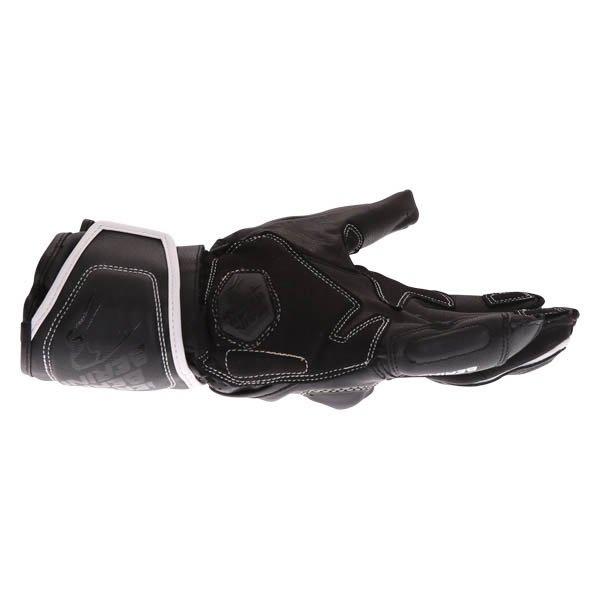 Bering Run-R Black White Motorcycle Gloves Little finger side