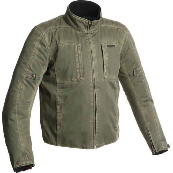 Bering Brody Khaki Textile Motorcycle Jacket Front