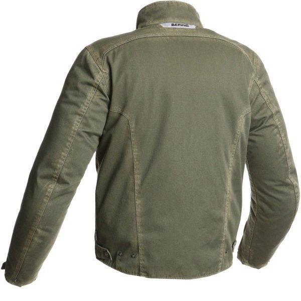 Bering Brody Khaki Textile Motorcycle Jacket Back