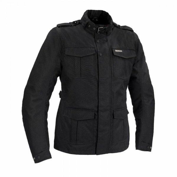 Bering Norris Black Motorcycle Jacket Front