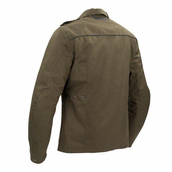 Bering Norris Khaki Motorcycle Jacket Back