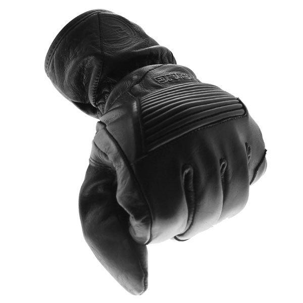 Bering Coltrane Black Motorcycle Gloves Knuckle