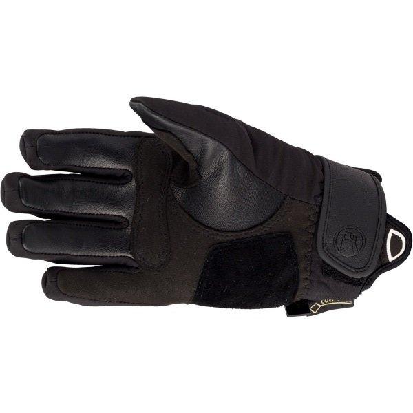 Bering Eksel Goretex Ladies Black Waterproof Motorcycle Gloves Palm