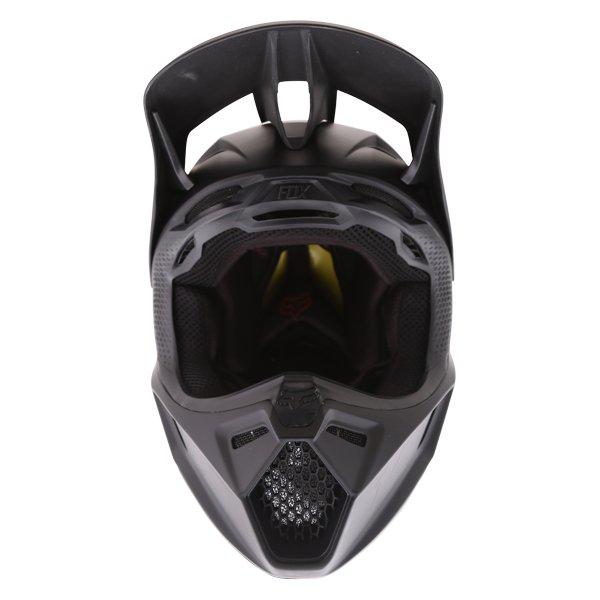 Fox V3 Matt Carbon Motocross Helmet Front