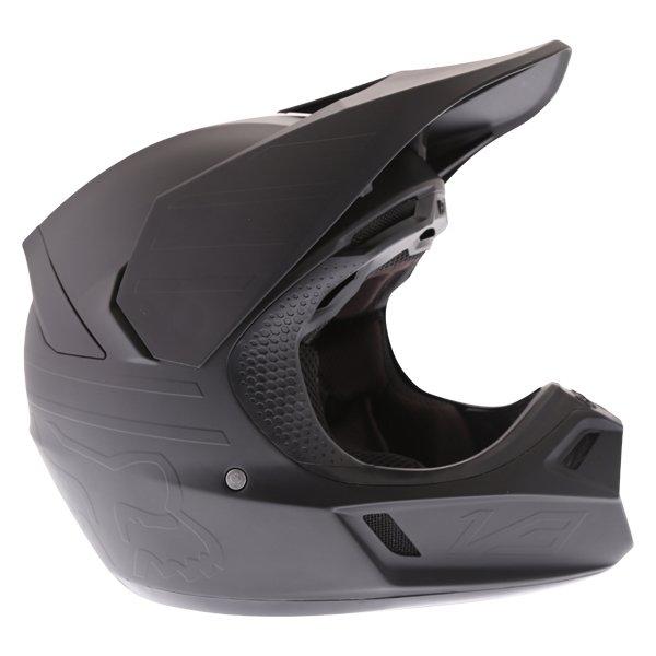 Fox V3 Matt Carbon Motocross Helmet Right Side