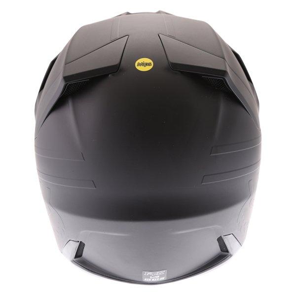 Fox V3 Matt Carbon Motocross Helmet Back
