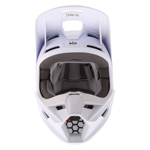 Fox V1 Matt White Motocross Helmet Front