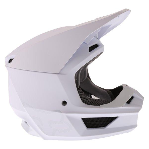 Fox V1 Matt White Motocross Helmet Right Side