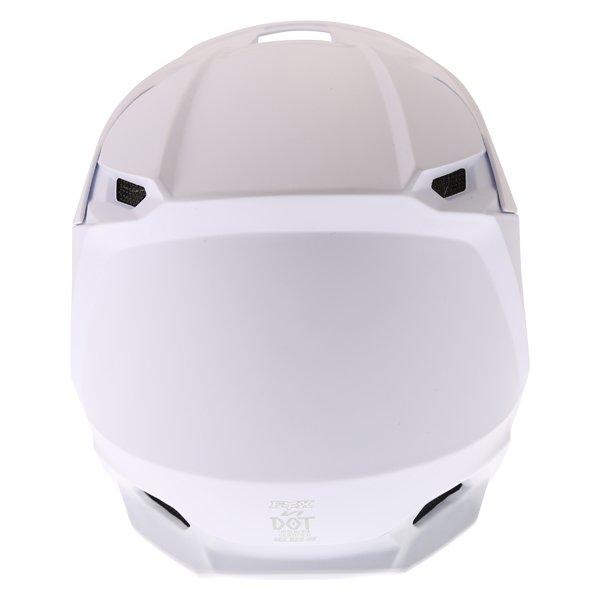 Fox V1 Matt White Motocross Helmet Back