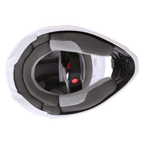 Fox V1 Matt White Motocross Helmet Inside