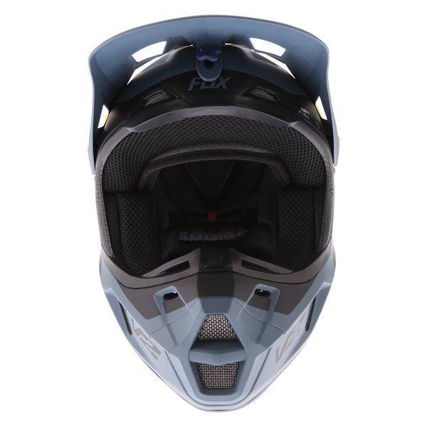 Fox V2 Murc Blue STL Motocross Helmet Front