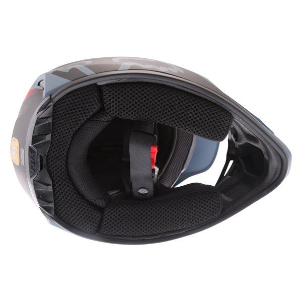 Fox V2 Murc Blue STL Motocross Helmet Inside