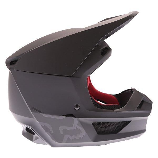 Fox V1 Matt Black Motocross Helmet Right Side