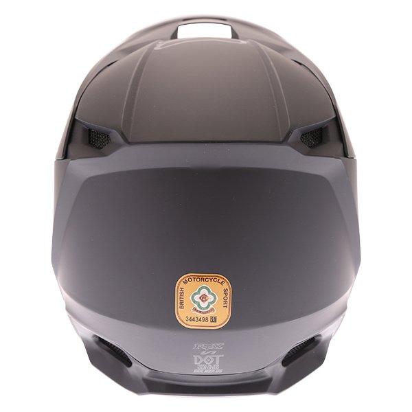 Fox V1 Matt Black Motocross Helmet Back