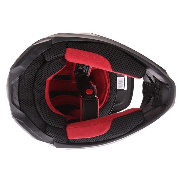 Fox V1 Matt Black Motocross Helmet Inside