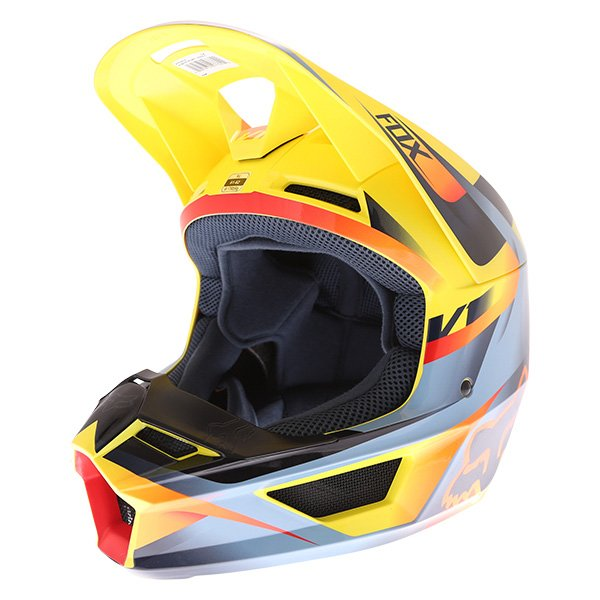 V1 Motif Helmet Yellow