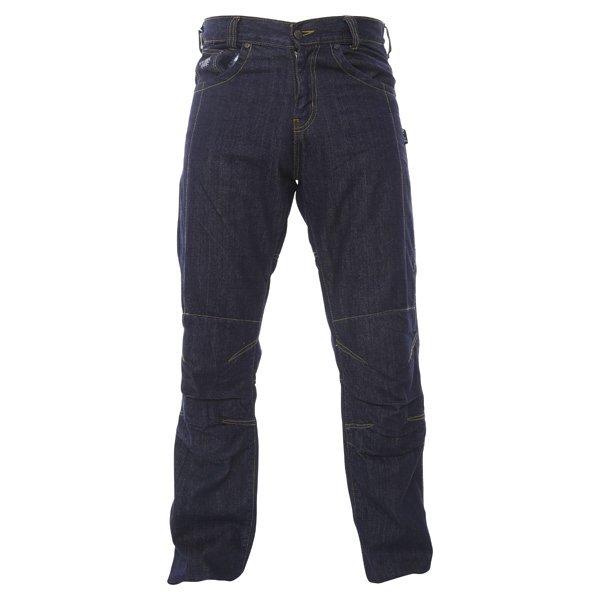BKS Lincoln Kevlar Mens Blue Denim Motorcycle Jeans Front
