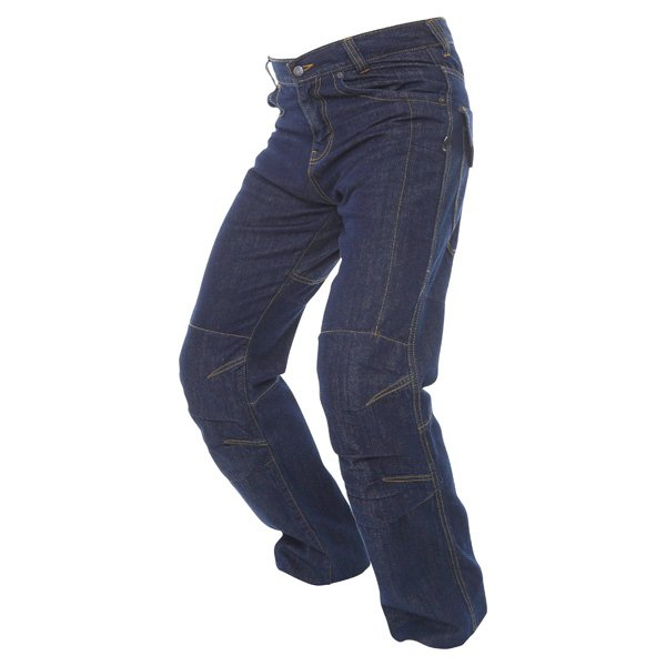 BKS Lincoln Kevlar Mens Blue Denim Motorcycle Jeans Riding crouch