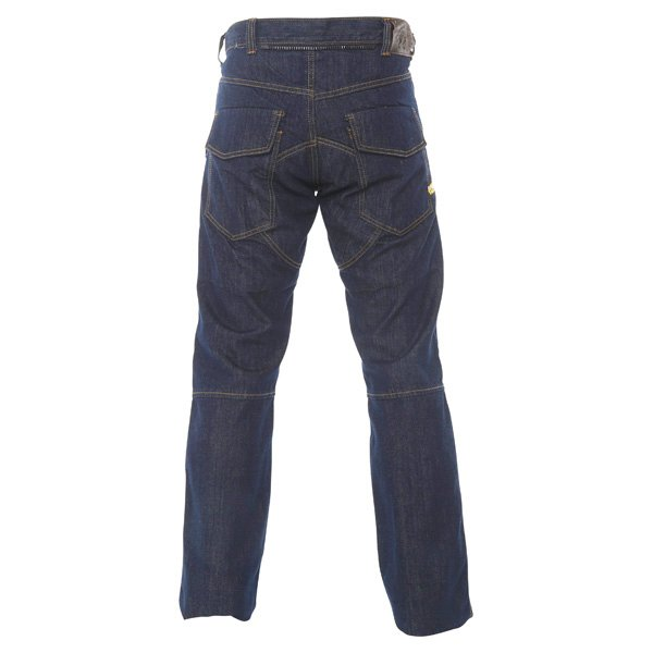 BKS Lincoln Kevlar Mens Blue Denim Motorcycle Jeans Rear