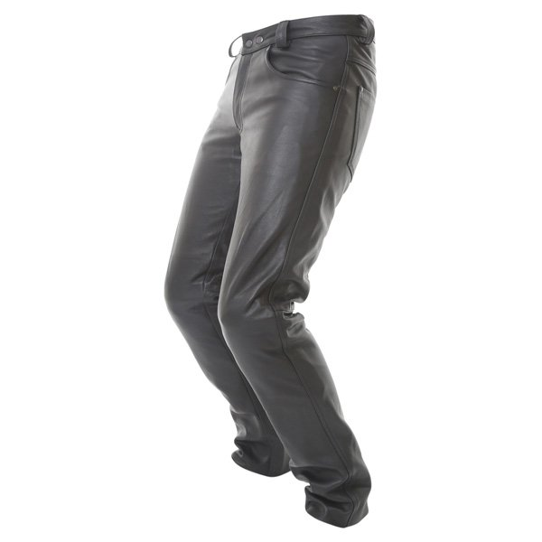 BKS K9 Kevlar Black Leather Motorcycle Jeans Riding crouch