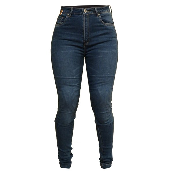 Bella Jeans Blue Ladies Motorcycle Clothing, Boots And Gloves