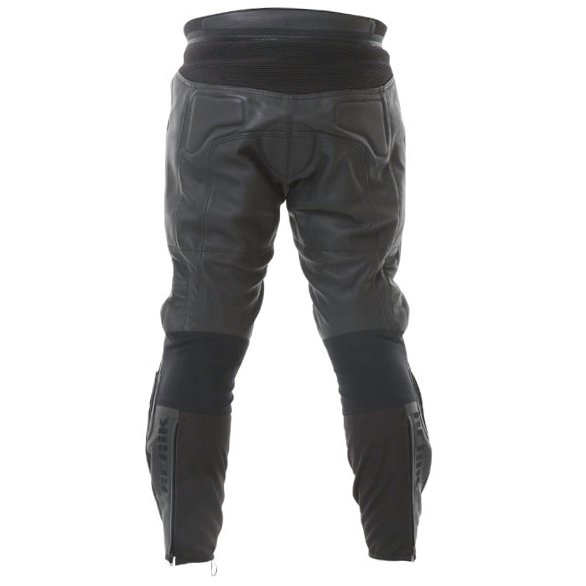 Berick LP-5927 Mens Black Leather Motorcycle Jeans Rear