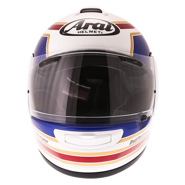 Arai Axces III Matrix White Red Blue Full Face Motorcycle Helmet Front