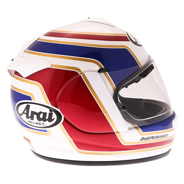 Arai Axces III Matrix White Red Blue Full Face Motorcycle Helmet Right Side