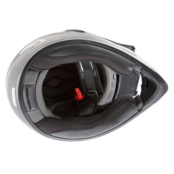 Frank Thomas Matt Black Adventure Motorcycle Helmet Inside