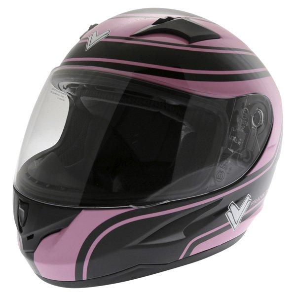 Frank Thomas FT36 Pink G1 Ladies Full Face Motorcycle Helmet Front Left