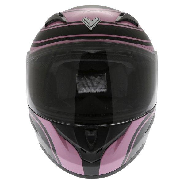 Frank Thomas FT36 Pink G1 Ladies Full Face Motorcycle Helmet Front