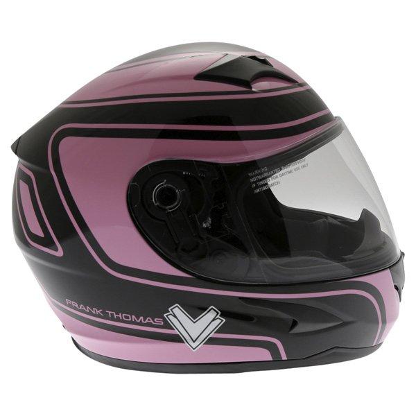 Frank Thomas FT36 Pink G1 Ladies Full Face Motorcycle Helmet Right Side