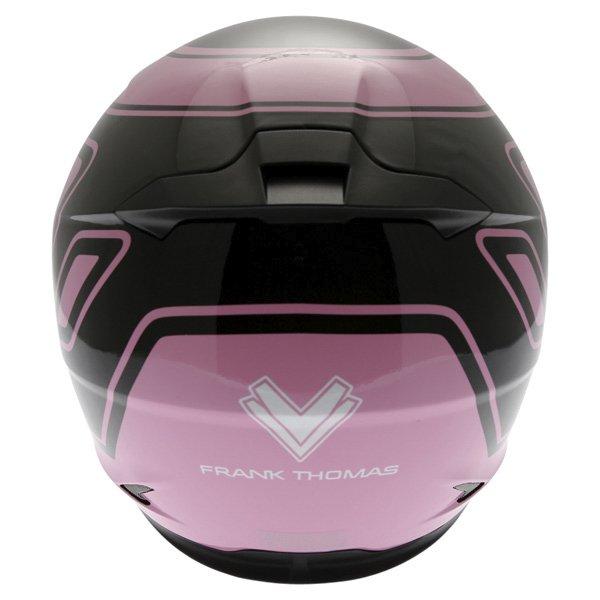 Frank Thomas FT36 Pink G1 Ladies Full Face Motorcycle Helmet Back