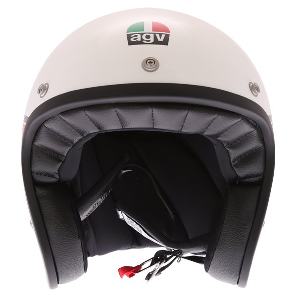 AGV X70 Mino 73 White Open Face Motorcycle Helmet Front
