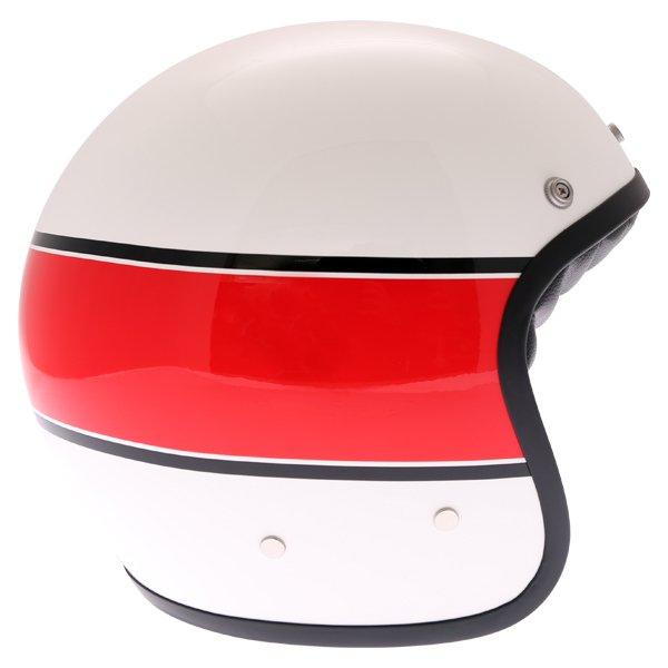 AGV X70 Mino 73 White Open Face Motorcycle Helmet Right Side