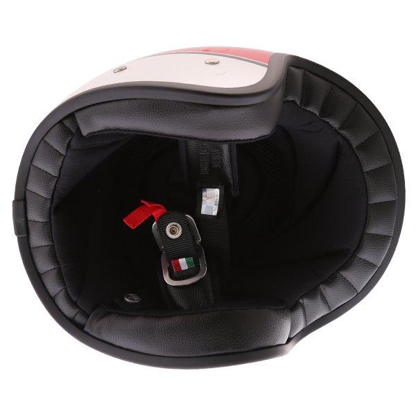 AGV X70 Mino 73 White Open Face Motorcycle Helmet Inside