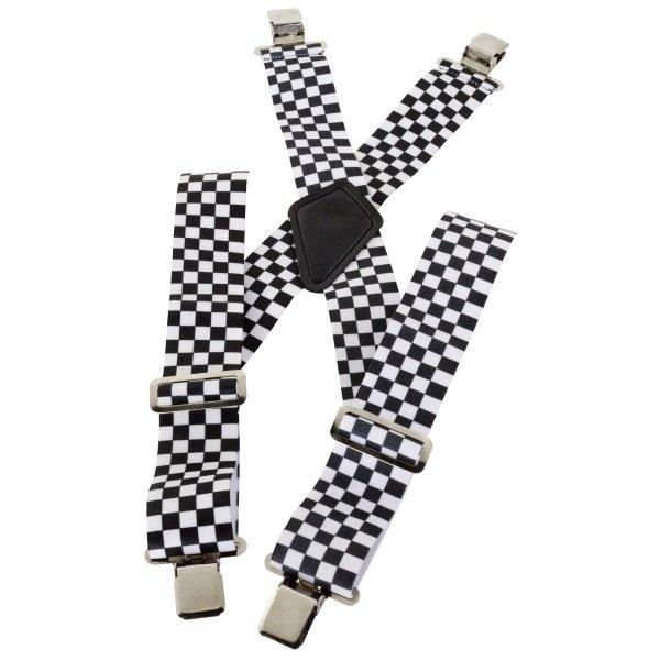 Bike It Moto-Brace Checkered Braces