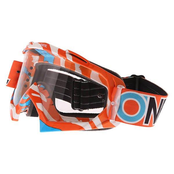 B-10 Goggle Stream Orange Blue Clear Oneal
