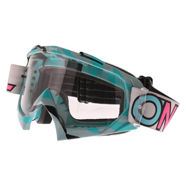 B-10 Goggle Stream Grey Teal Clear Oneal