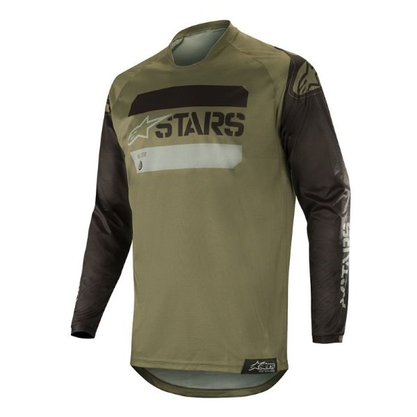 Alpinestars Racer Black Military Camo Tactical Jersey Front