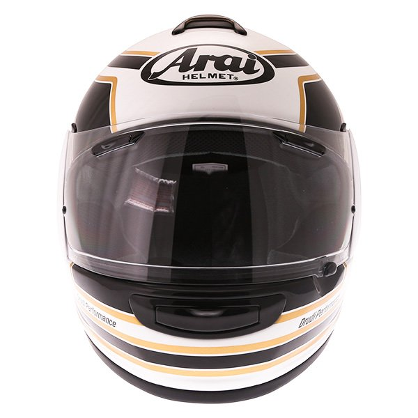 Arai Axces III Matrix Black White Full Face Motorcycle Helmet Front