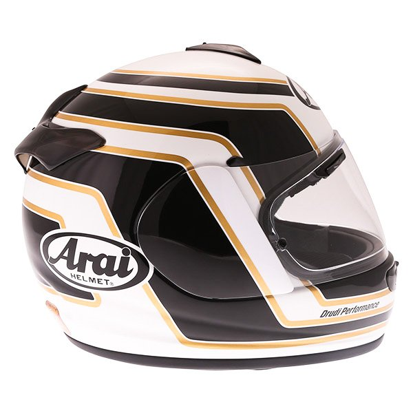 Arai Axces III Matrix Black White Full Face Motorcycle Helmet Right Side