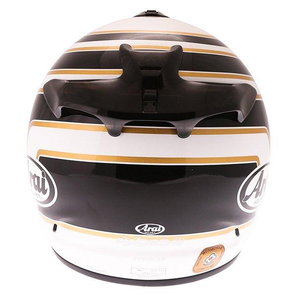 Arai Axces III Matrix Black White Full Face Motorcycle Helmet Back